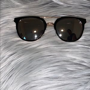 Black and Gold Mirror Sunglasses